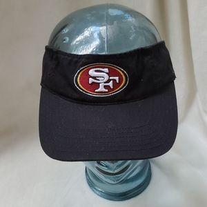 SF 49ers Black Visor